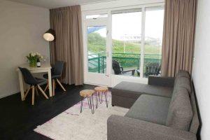 Hotel met uitzicht op zee en duinen in Bergen aan Zee